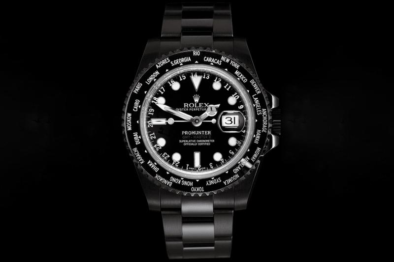 pro hunter custom rolex gmt master II 2 timepiece watches accessories multiple timezone Release Info