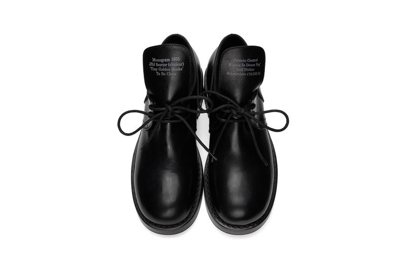 """Raf Simons Black Laced Up Low Derby Shoe """"Monogram 1955"""" """"JBJ Fourier (Chaleur)"""" """"Tiny Golden Books"""" """"To Be Close"""" Remote Control 'Events in Dense Fog' Kilimanjaro"""