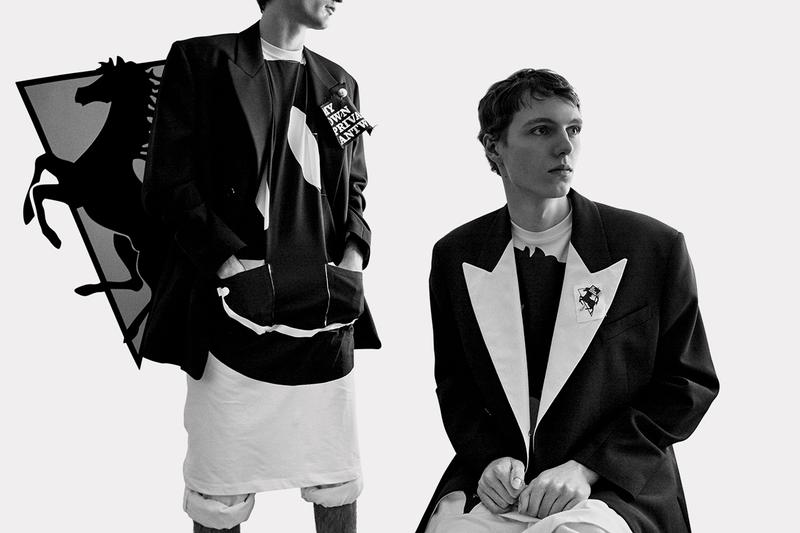 Raf Simons Spring/Summer 2020 Campaign Willy Vanderperre Photography Olivier Rizzo Styling Menswear Looks Images Lab Coats Sci-Fi Theme SS20 Prancing Horse Motif Belgian Designer