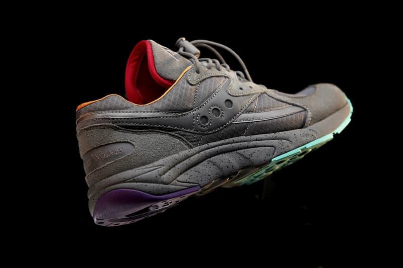 raised by wolves saucony aya asphalt jungle stash pocket chad muska grey purple orange red green release date info photos price