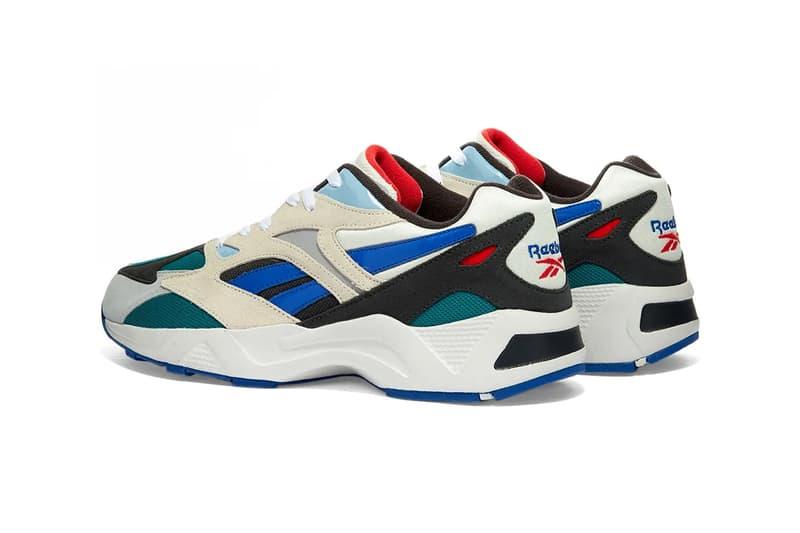 Reebok Aztrek 96 Chalk Seaport Teal ef356 sneakers shoes footwear runners trainers kicks 1990s blue eva midsole Hexalite cushioning support chunky spring summer 2020 blue
