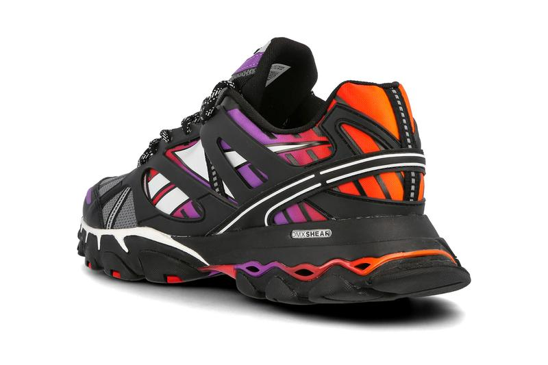 Reebok DMX Trail Shadow Black Gray Scarlet FV2842 shoes sneakers footwear kicks runners trainers fall winter 2020 multi color purple red retro low top Max shear technical performance