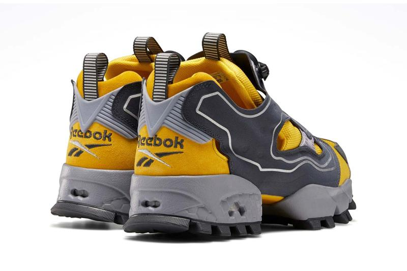 reebok instapump fury trail shroud nylon wrap cover suede upper release black true grey modern beige toxic yellow