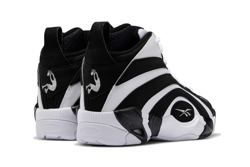 reebok shaqnosis shaquille o neal shaq black white silver metallic EF3069  release date info photos price