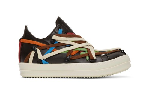 Rick Owens Unveils Vibrant Multi-Colored Lace Sneakers