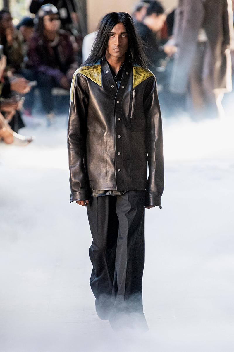 "Rick Owens ""PERFORMA"" Paris Fashion Week Men's Fall/Winter 2020 Runway Show Closer Look Editorial Lord of Darkness Asymmetrical Collection Menswear Gender Fluid Neutral Leather PVC Mohair Tailoring Biker"