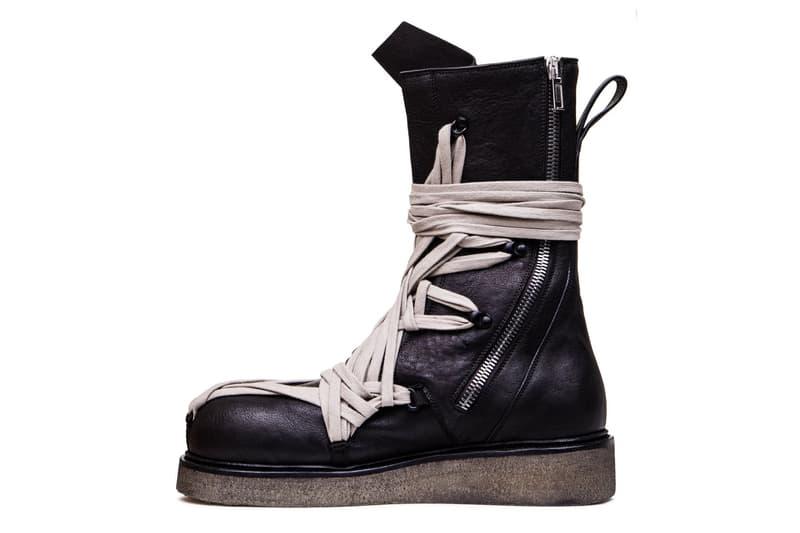 Rick Owens Tecuatl Bozo Army Boots Mega Lacing