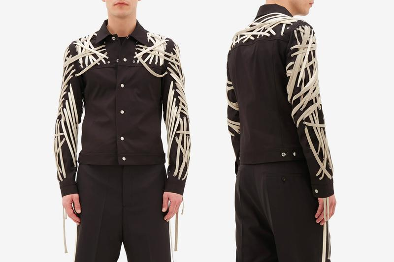 Rick Owens Tecuatl Lace up Technical Gabardine Jacket Release ss20 spring summer matchesfashion