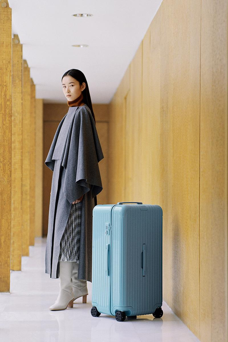 RIMOWA Two New Colorways Essential Essential Lite Range Berry Glacier travel suitcases lvmh