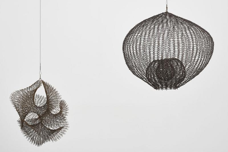 """Ruth Asawa """"A Line Can Go Anywhere"""" Exhibition David Zwirner Gallery Sculptures Wire Line Paper"""
