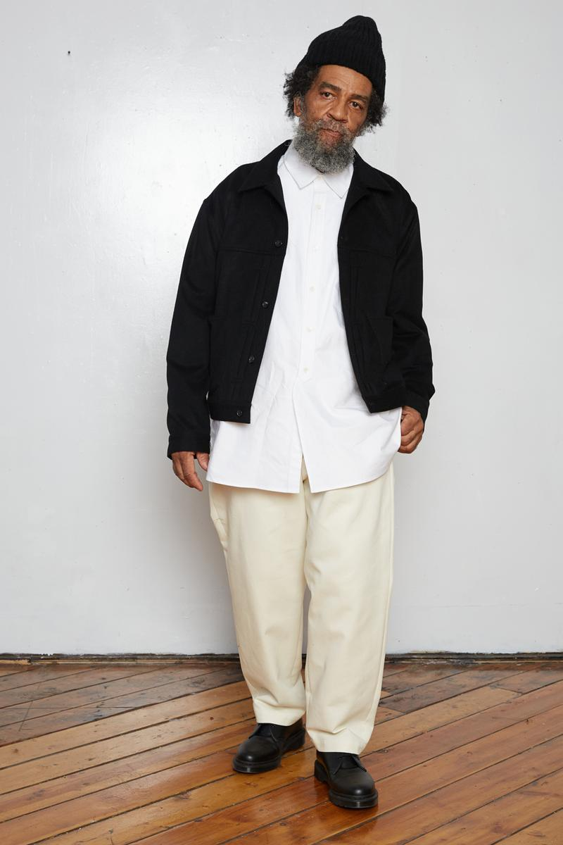 s.k. manor hill Fall/Winter 2020 Lookbook Collection Coats Jackets Trousers Blazers Shirts Hats Bags Hoodies Sweatpants Gingham Corduroy Brown White Gray Beige