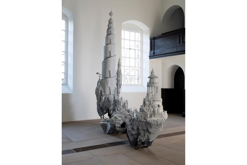"Saad Qureshi Yorkshire Sculpture Park Solo Exhibition ""Something About Paradise"" Sculptures Landscapes Architecture"