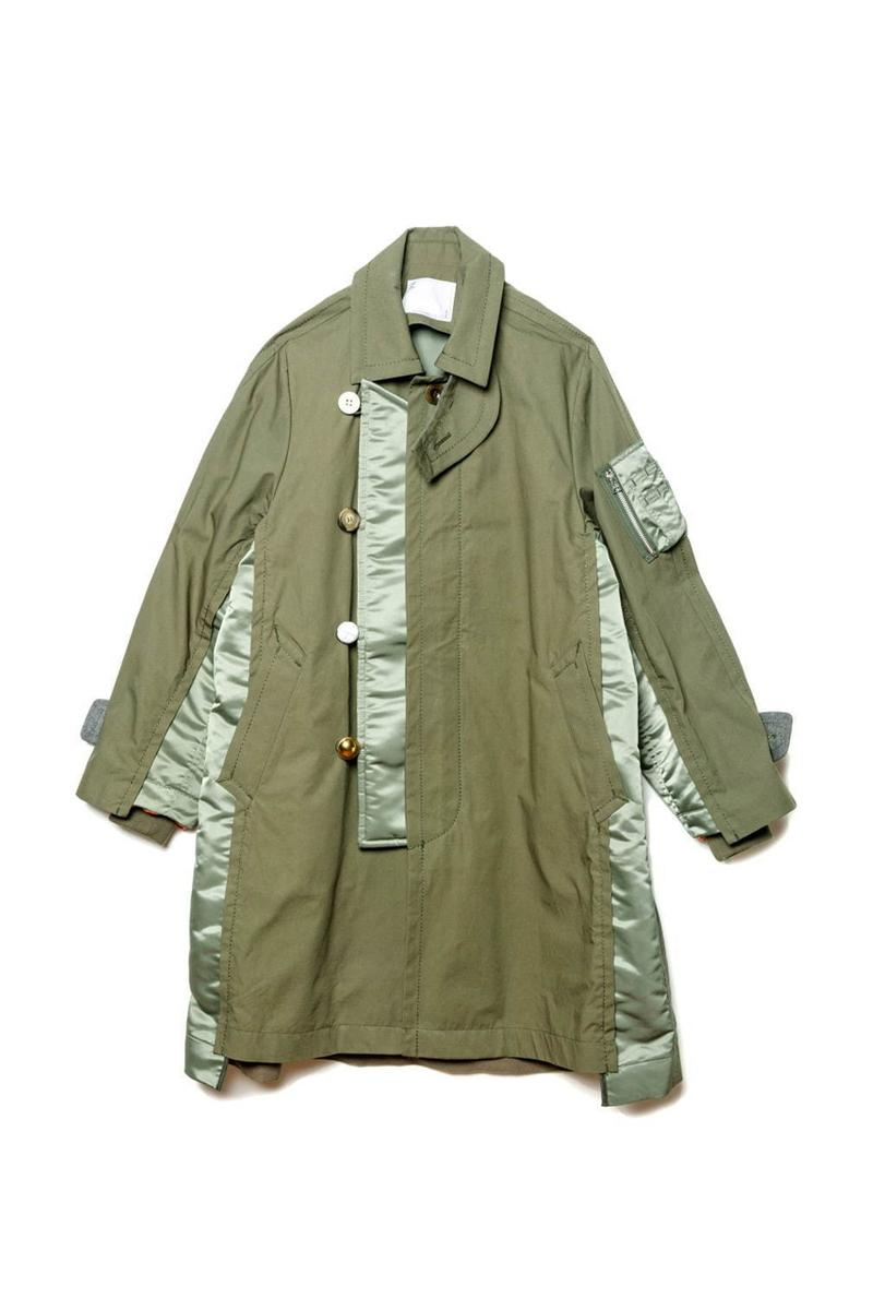 sacai Exclusive Nagoya Sakae Mitsukoshi Jackets coats trench deconstruction militaristic bomber ma 1 flight modular reconstruction multi panel garment store opening tokyo chitose abe