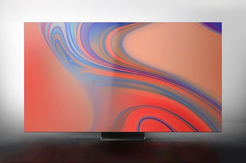 ces 2020 samsung television tv 8k resolution bezel free frame qled fald backlighting