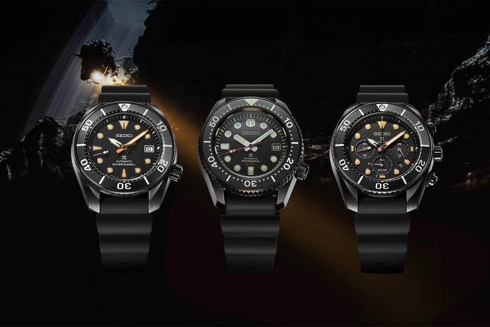 "Seiko Announces Three New ""Black Series"" Prospex Dive Watches"