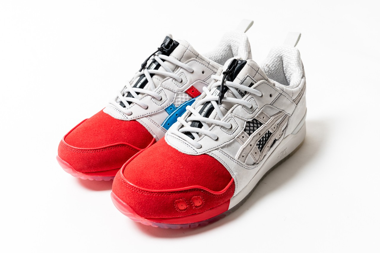 Shigeyuki Kunii Mitasneakers ASICS GEL-LYTE III OG Collaboration Shigeyuki Mitsui tricolor concept running shoe lifestyle street style silhouette sneaker design Ueno traditional Japanese shades updates features of the original Gel-Lyte III model modern specifications in the sewing patterns comfort new