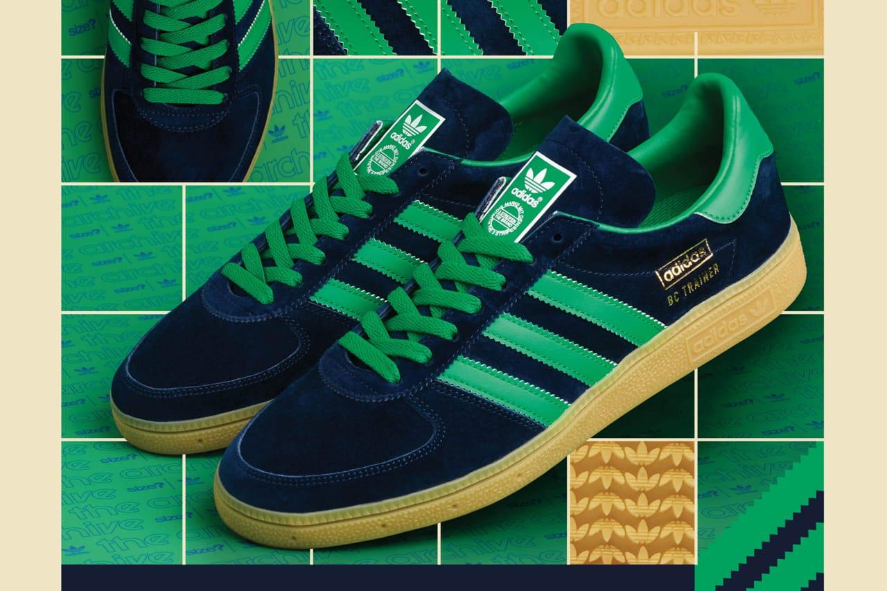 size? adidas Originals BC Trainer Navy