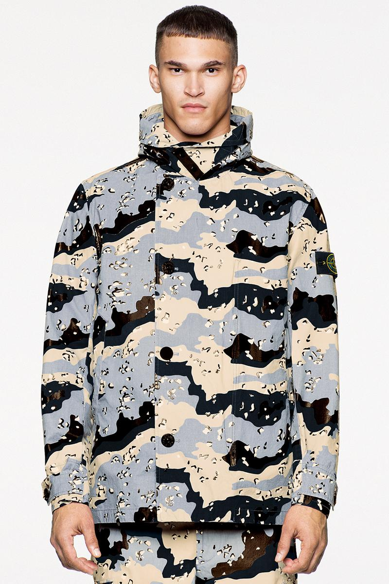browns stone island ss20 spring summer 2020 camo camouflage stoney jacket release information buy cop purchase desert 3C-PU
