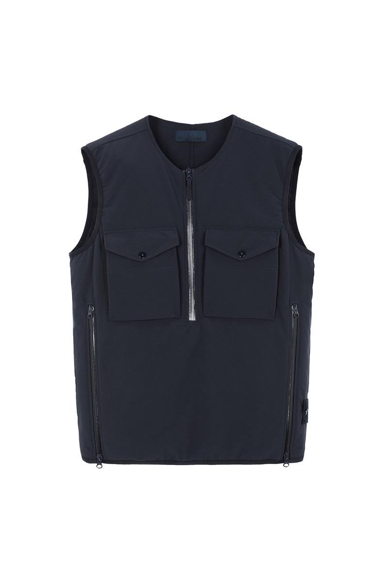Stone Island Ghost SS20 Collection monochromatic polistiere stretch 5l vest jacket shirt knit cream white black blue navy olive green