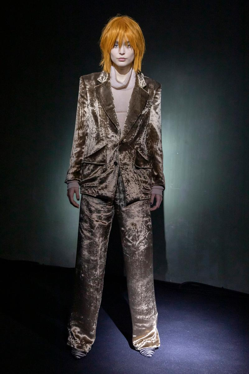 sulvam Fall/Winter 2020 Runway Collection Info Blazers Trousers Jackets Coats Shirts Pants Shorts Fur Velvet Gingham Vests Hats Sunglasses Loafers Boots Leather Knitwear Kneckties