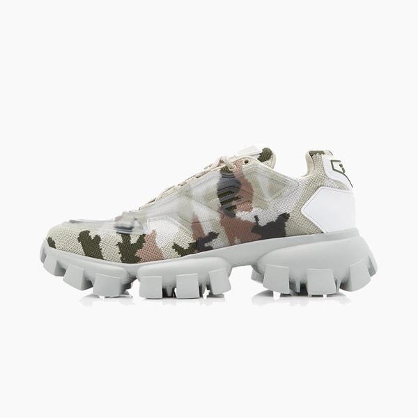 Prada Camo Rubber-Knit Sneakers