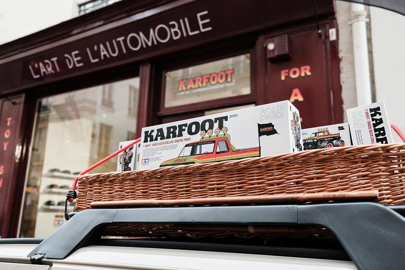 "Tamiya x L'art de L'automobile ""KARFOOT"" Pop-Up Store Look Inside Paris Fashion Week Men's Fall Winter 2020 FW20 T-Shirts Remote Control Car Display Photography Event Showcase"