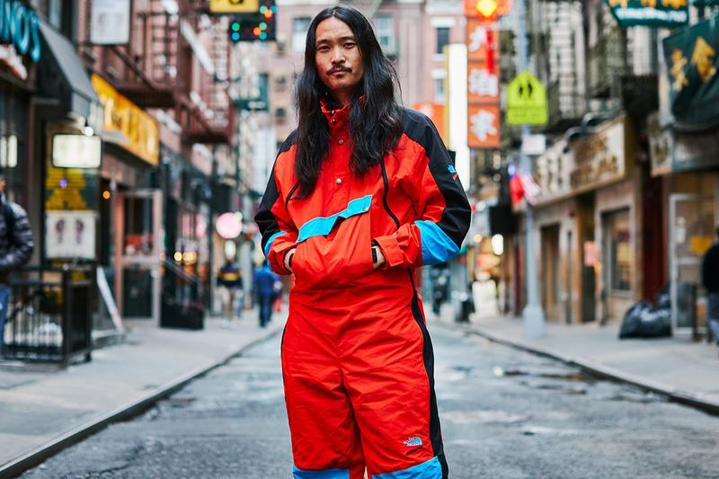The north face extreme collection ski suit cap bag sneakers 1980s release information buy cop purchase red blue black grey asphalt fiery