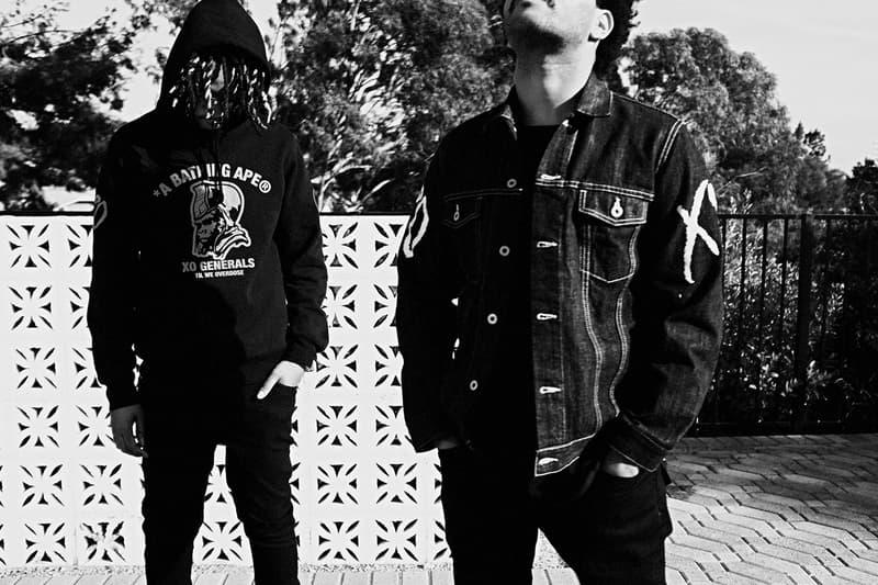 The Weeknd XO BAPE Second Capsule Collection Lookbook Release A Bathing Ape Metro Boomin La Mar Taylor Derek Wise 88Glam Info Date Buy Price Baby Milo T shirt Varsity Jacket Denim Hoodie Sweatpants Shark