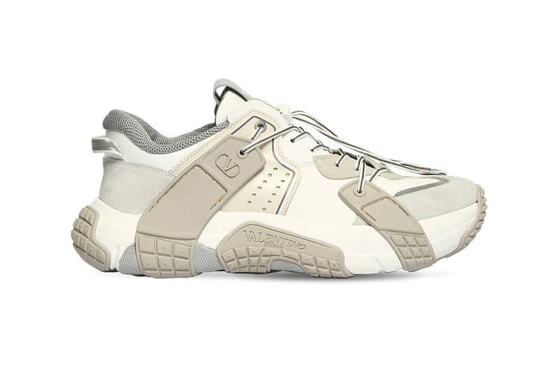 "Valentino ""Off-White"" VLTN Wod Sneaker Release Info mesh suede luisaviaroma 71I-H0Z001 drop"