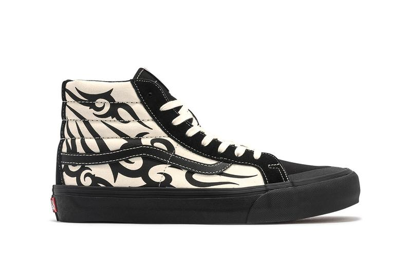 Vans Sk8-Hi 138 SF & Style 36 SF Tribal Pack Release Information Black Suede Cream Canvas Y2K Detailing Design Skateboarding Footwear Jazz Stripe Tattoo Motif HBX