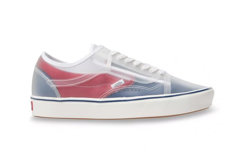 "Vans Slip-Skool ComfyCush ""Checkerboard"" & ""True Navy/Red"" Canvas Sneaker Release Information Skateboarding Hybrid OG Old Skool Slip-On Footwear Transparent Uppers"