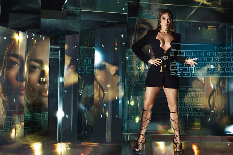 Jennifer Lopez in Versace Spring/Summer 2020 Campaign ss20 jlo kendall jenner menswear womenswear collection