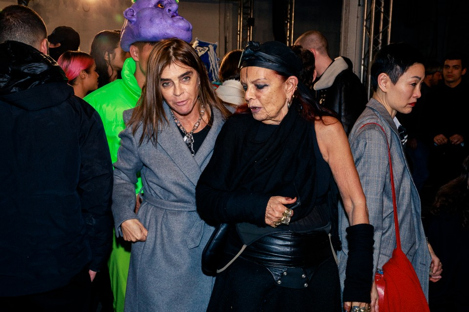 Front Row at Vetements' FW20 Paris Fashion Week Show