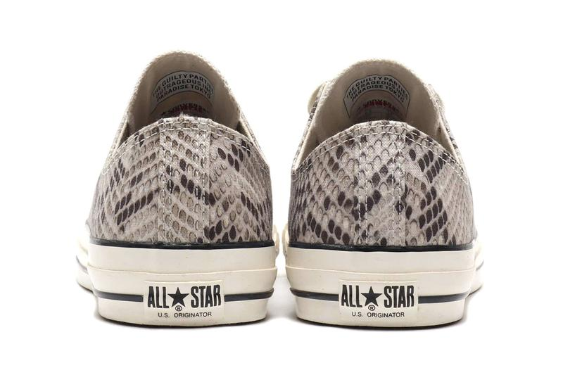 "WACKO MARIA x Converse All Star U.S. Originator Ox ""Python"" Release Information Drop Date Atmos Tokyo Cop Online Closer Look Collaborative Footwear Classic American Sneaker All Star"