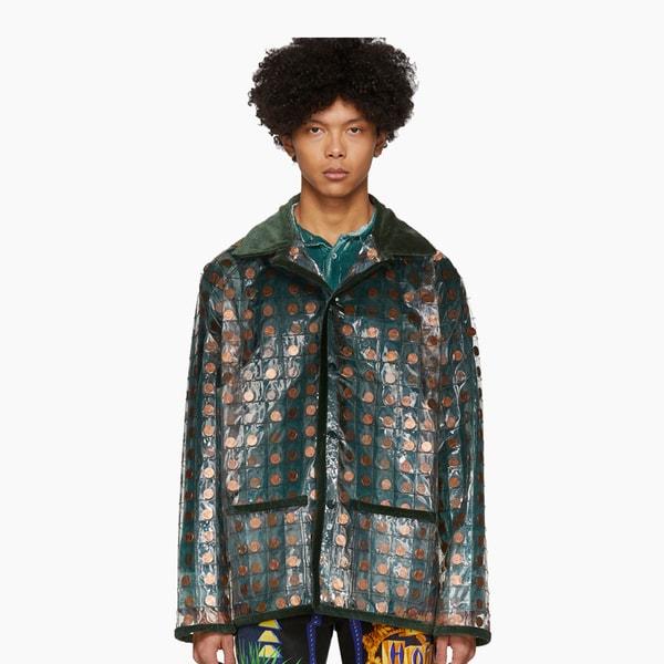 Bode Transparent PVC Penny Workwear Jacket