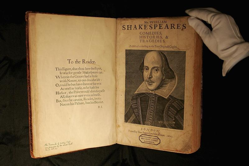 "William Shakespeare ""First Folio"" 'Comedies, Histories, & Tragedies' Plays Collection Book"