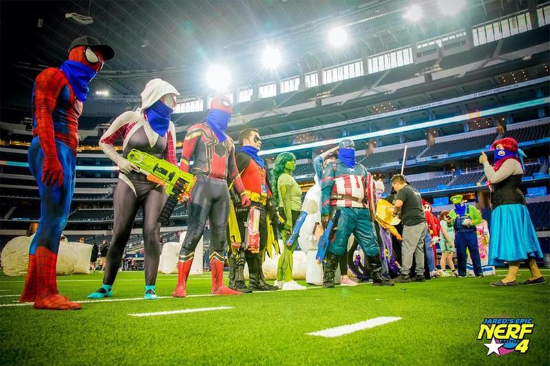 Worlds Largest NERF Battle AT&T Stadium Dallas