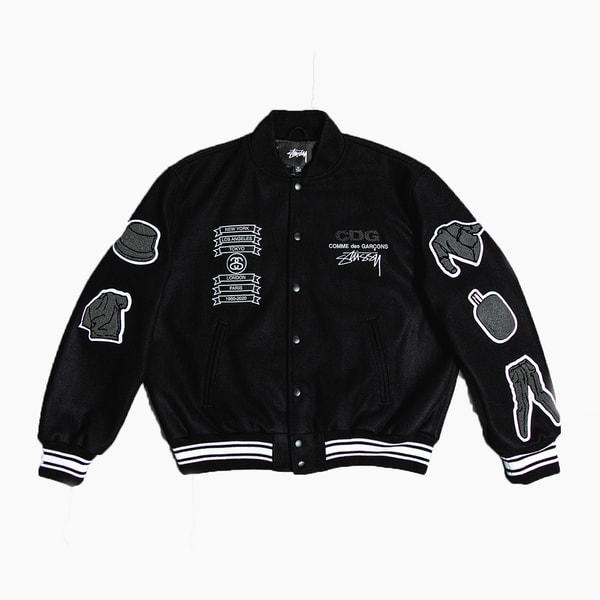 COMME des GARÇONS x Stüssy 40th Anniversary Varsity Jacket