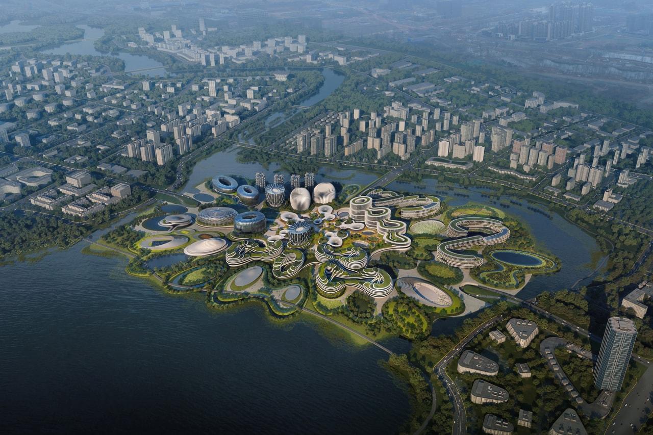 Zaha Hadid Architects 'Unicorn Island' Masterplan Chengdu Tianfu New Area