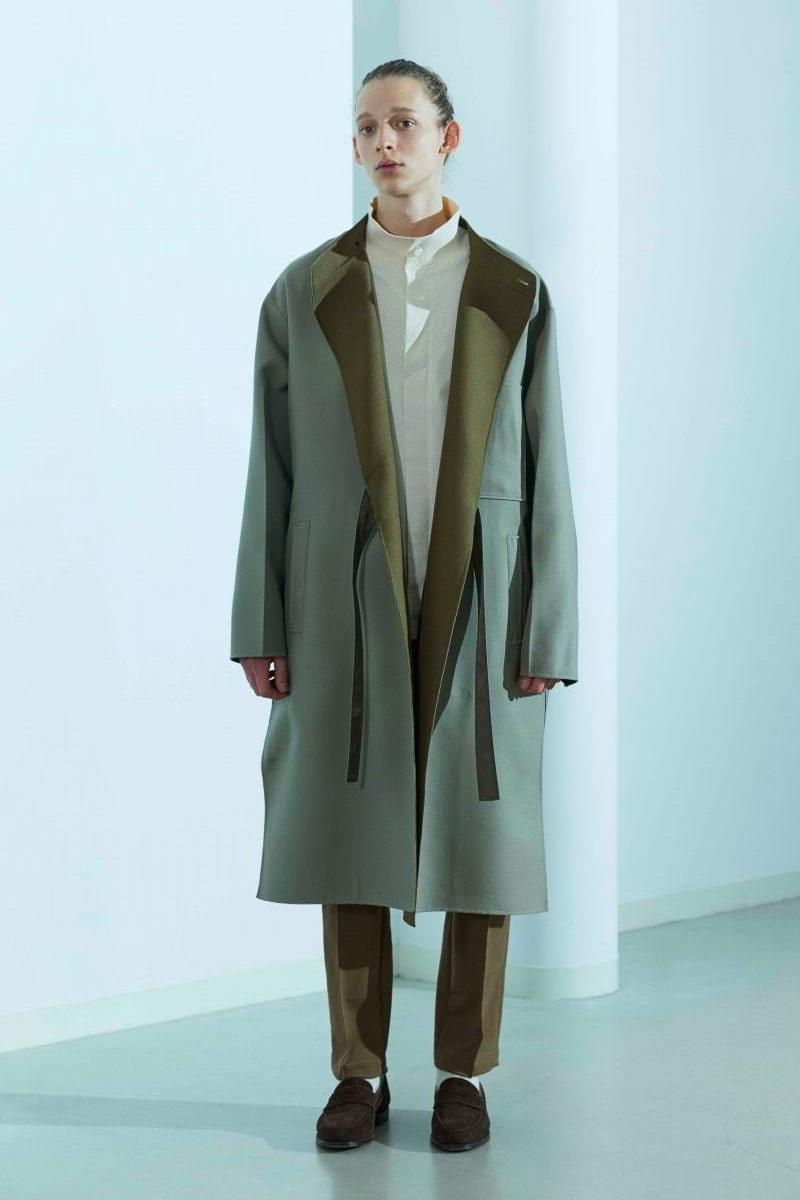 08sircus Fall Winter 2020 Lookbook collection japanese style british militaristic sartorial bespoke clean cut tailoring coats duffle peacost navy parka trousers slacks pants jackets