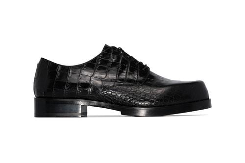 1017 ALYX 9SM Drops Black Croc Leather Dress Shoes