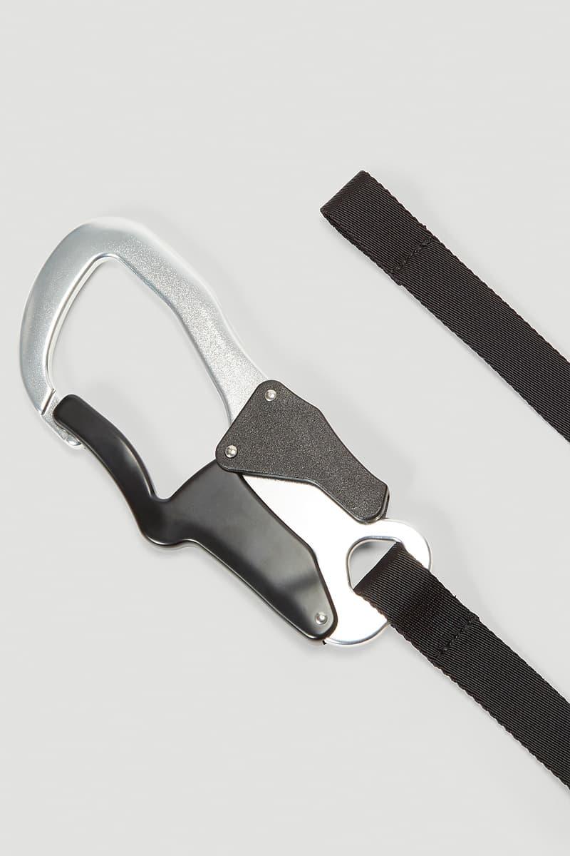 1017 ALYX 9SM Claw Belt Bag Release Info Buy Price Silver Black Matthew M Williams