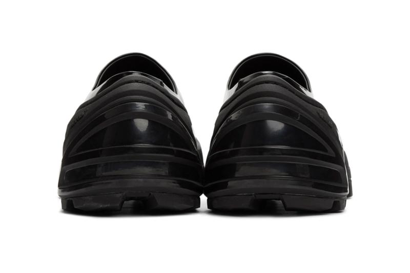 1017 ALYX 9SM Black Croc Leather Clog patent skin spring summer 2020 collection matthew M williams designers made in italy shoes sneakers footwear kicks trainers runners slippers