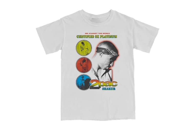 2Pac Me Against The World 25th Anniversary Merch Release tupac shakur all eyez on me california love