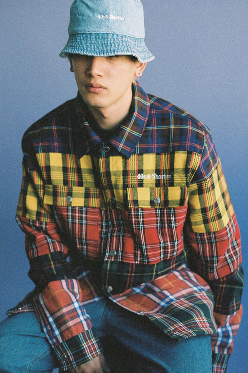 40s & Shorties Spring 2020 Collection Lookbook First Look Drop Information '90s 2000s Inspiration Menswear Womenswear Los Angeles Brand Overalls Plaid T-Shirts Tie Dye Tops