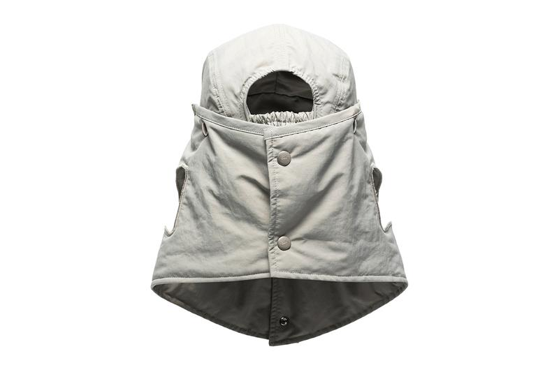 A COLD WALL Gray Buttoned Desert Hat samuel ross trekking accessories menswear streetwear spring summer 2020 collection hiking outdoor urban technical headwear hat cap functional