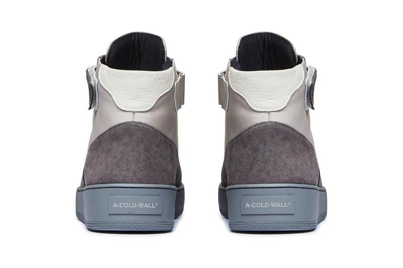 A-COLD-WALL* corbusier hi sneaker release information slate grey buy cop purchase samuel ross sneaker footwear