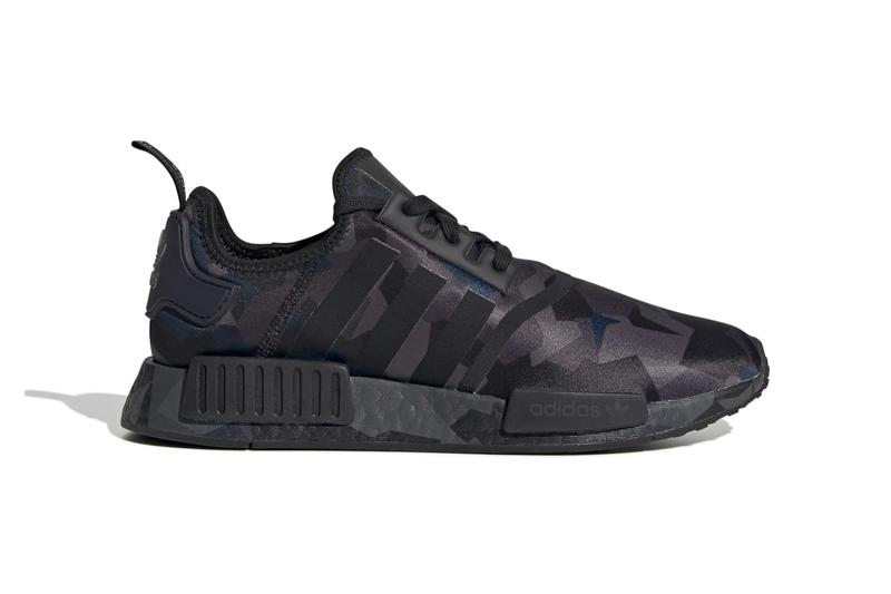 adidas NMD R1 Fractal Camo Pack Release  EF4262  EF4263  EF4264 Black Beige Navy Sand Core Black Off White Black Grey Six Carbon Collegiate Navy Cloud White