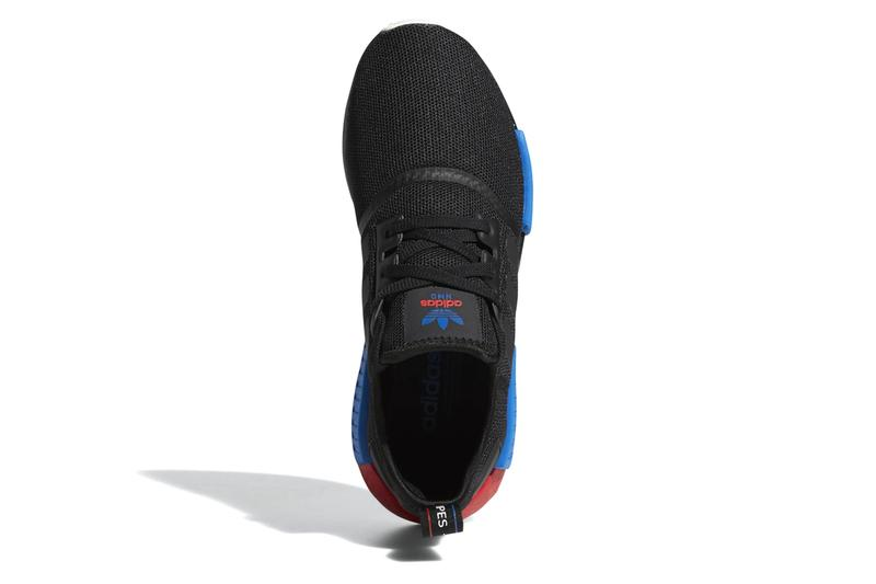 adidas nmd r1 core black lush red blue sneaker runners shoes release