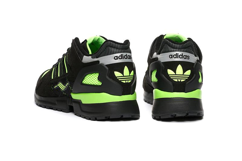 """adidas Originals ZX 10000 C """"Core Black/Solar Green"""" Release Info Drop Cop Sneakernstuff Footwear Ftwr White Three Stripes OG Torsion Technology Sneakers Three Stripes Jacques Chassaing"""